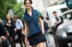that outfit rocks. #MackenzieDrazan #offduty in Paris. #Le21eme