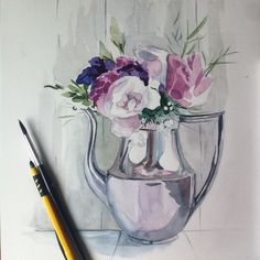 Vase, Painting, Home Decor, Decoration Home, Room Decor, Painting Art, Paintings, Jars, Painted Canvas