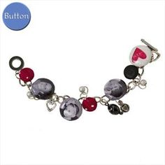 Imaginisce i-top button charm bracelet. Can't wait to make this!