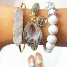 #Repost @dress_well_travel_often  Always looking for a good arm stack and I think I just found my new favorite from @kinsleyarmelle! Anything sparkly or druzy and I'm all about it  you can also use a discount code from any Kinsley Armelle rep I tagged a couple in this picture  PS it's not too late to enter my Kendra giveaway! Go back to the original post for details! Winner announced this evening!