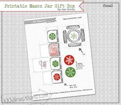 Printable Mason Jar Gift Box by Jen Goode Small