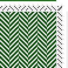 Martin's scarf. Possum/Merino, 5 colours, 16 threads each x 2