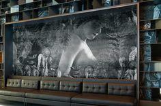 Tapety obiektowe, Fototapety, okładziny ścienne, foto-boardy, obrazy drukowane na płótnie... Zobacz jak wykorzystać druk wielkoformatowy w dekoracji wnętrz. Inspiracje Dekorami.pl Fabio Ongarato Design | W Hotel Hong Kong