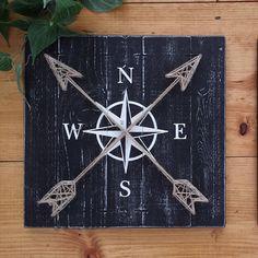COMPASS DECOR World Travel Decor String art compass Compass