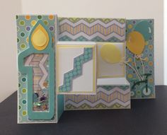 A personal favorite from my Etsy shop https://www.etsy.com/listing/491433571/1st-birthday-tri-fold-shaker-card