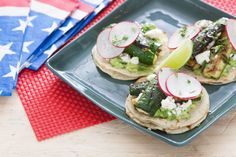 Grilled Zucchini Tacos with Guacamole (recipe)