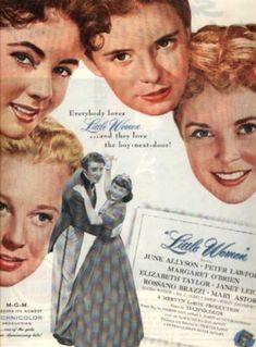 Little Women~ June Allyson, Margaret O'Brien, Elizabeth Taylor, Janet Leigh, Peter Lawford   (1949) ❤❤