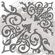 Victorian corner scroll stencil. Does this design look a little familiar? It should ;)