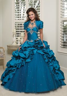 BallGown Sweetheart Tulle Floor-length Lace-up Quinceanera Dress at sweetquinceaneradress.com