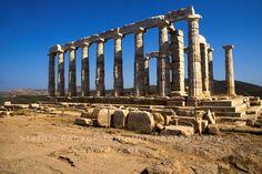 Ναός Ποσειδώνα στο Σούνιο-Temple of Posidon in Sounio Ancient Greece, Marina Bay Sands, Pictures, Travel, Lights, Photos, Viajes, Photo Illustration, Trips