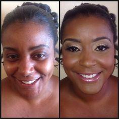Before & After Bridal Makeup