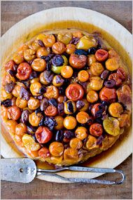 Caramelized Tomato Tarte Tatin by Melissa Clark via the New York Times - looks delicious, could eat a piece right now!
