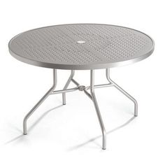"""Tropitone Boulevard Dining Table Table Size: 42"""", Finish: Parchment"""