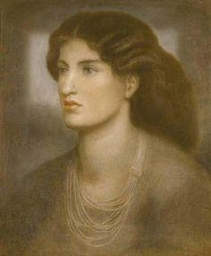 Pre Raphaelite Art: Dante Gabriel Rossetti - A Portrait (1869)