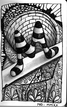 Tangle Doodle, Doodle Art, Pen Doodles, Crafty Fox, Doodle Lettering, Zen Art, Zentangle Patterns, Art Education, Painting & Drawing