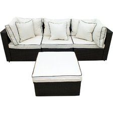 4-Piece Hannah Wicker Patio Seating Group