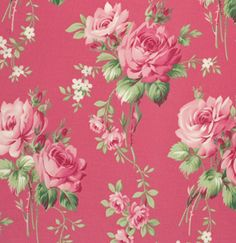 Barefoot Roses, Tanya Whelan's much loved first collection is back in its most popular pink and green colourways. Iconic rose motifs, rose medallions,
