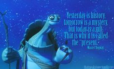 Master Oogway, the wise old turtle.