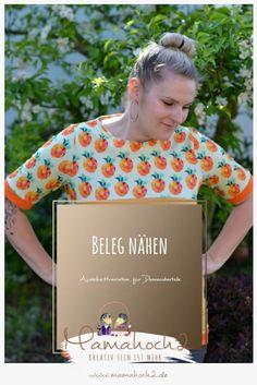 Nähanleitung Beleg – Ausschnittvariation für Damenoberteile Sewing Hacks, Sewing Tutorials, Sewing Tips, Tips & Tricks, Good Things, Blog, Clothes, Youtube, Sew Simple