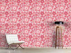Design #Tapete Schmetterling Und Blume Fantasie
