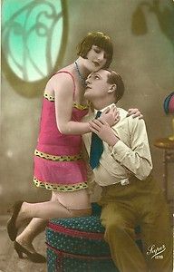 French Flapper Girl Tastefully Tinted