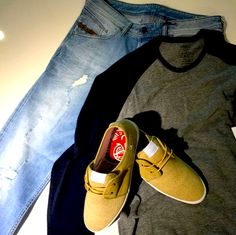 Fish n chips. mens sneakers. mens casuals. mens trainers. mens outfit.  mens layout. mens style. mens fashion.