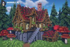 Minecraft Cottage, Cute Minecraft Houses, Minecraft City, Minecraft Plans, Minecraft House Designs, Minecraft Survival, Amazing Minecraft, Minecraft Construction, Minecraft Tutorial