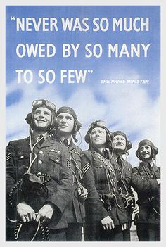 "20 Aug 40: Winston Churchill gives a speech in the House of Commons, saying ""Never in the field of human conflict was so much owed by so many to so few,"" referring to the ongoing efforts of the Royal Air Force pilots fighting the Battle of Britain. #WWII"