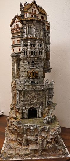 It's not a cake. But it should be It's not a cake. But it should be Miniature Houses, Fantasy Castle, Fantasy House, Medieval Fantasy, Fantasy Art, Fantasy Miniatures, Dollhouse Miniatures, Warhammer Terrain, Popsicle Stick Crafts