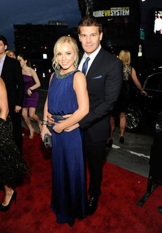 David Boreanaz & Jaime Bergman Photos - 2012 People's Choice Awards - Red Carpet - Zimbio