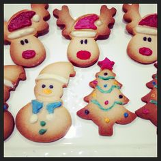 Christmas cookies - with coloured white choco
