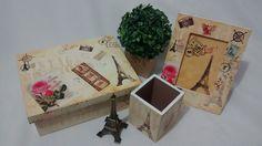 Kit Organizador Paris Vintage