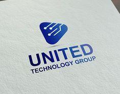 it is united technology group logo design es ist vereinigtes Technologie-Gruppenlogodesign Tech Branding, Tech Logos, Branding Design, Tecnology Logo, Logo Software, Corporate Logo Design, Lab Logo, Industry Logo, Typography Logo