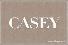 Casey: great unisex name. K and C