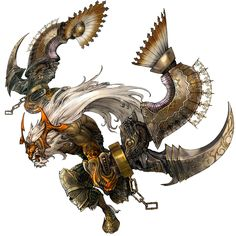View an image titled 'Hashmal Art' in our Final Fantasy Tactics Grimoire of the Rift art gallery featuring official character designs, concept art, and promo pictures. Final Fantasy Tactics A2, Arte Final Fantasy, Creature Feature, Creature Design, Character Art, Character Design, Beast Creature, Art And Hobby, Monster Design