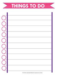 i so need this things to do template pdf free printable to do