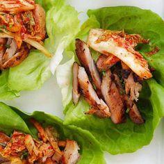 Koreaanse kip sla wrap | Franska.nl
