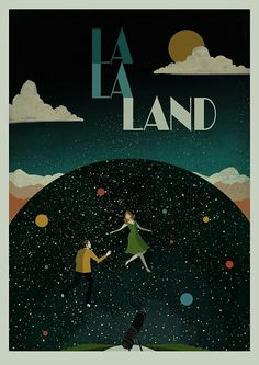 La La Land is a beautiful film in itself, and this art captures that.