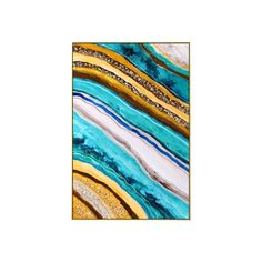 Framed Wall Art Abstract Seascape epoxy Resin Geode Crystal   Etsy Pour Painting, Painting Process, Painting Frames, Frames On Wall, Framed Wall Art, Large Art Prints, Epoxy Resin Art, Wall Art Pictures, Acrylic Pouring