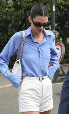Alexa, Kate and Pippa Just Served Fashion Aces at Today's Wimbledon Final - wimbledon celebrities Kendall Jenner in Ralph Lauren - Celebrity Outfits, Celebrity Look, Kendall Jenner Casual, Kylie Jenner, Ralph Lauren Looks, Ralph Lauren Outfit, Kate And Pippa, Casual Outfits, Fashion Outfits