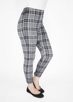 Pixie Pants - Black White Plaid