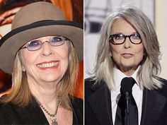Diane Keaton Goes Gray for the Golden Globes (And We Love It) | People.com