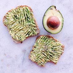 Simplicity at its best. Avocado on Ezekiel Toast.