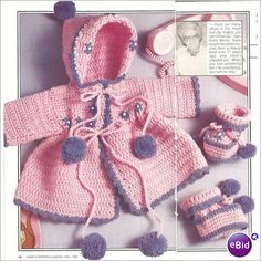 Crochet Baby Pattern Sweater & Booties @Af's 22/1/13