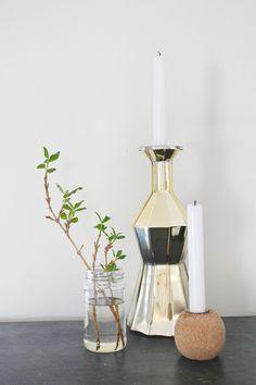 Siljes blogg Gold vase from IKEA