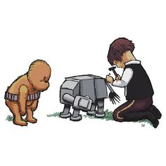 zomg, how freakin' cute! Han Solo a la Christopher Robin.