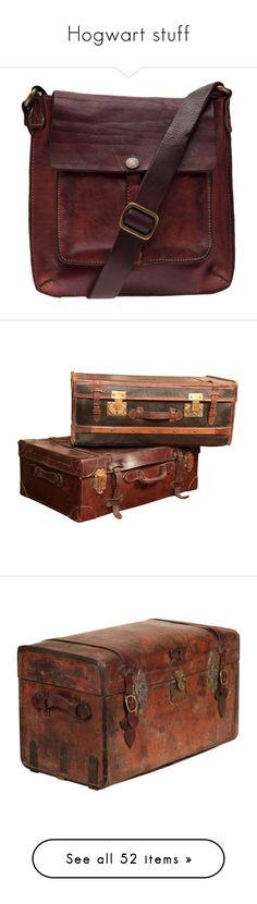 """Hogwart stuff"" by alexishambleton on Polyvore featuring bags, handbags, shoulder bags, bolsas, red purse, genuine leather handbags, genuine leather purse, red shoulder handbags, real leather purses et luggage"