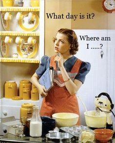Retro Housewife ((i love a lot of retro/vintage)) 1950s Housewife, Vintage Housewife, Housewife Humor, Housewife Quotes, Huevos Fritos, Domestic Goddess, Baking Tips, Baking Hacks, Menu Planning