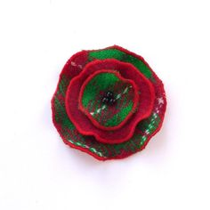 Harris Tweed Christmas brooch , CIJ , ChristmasinJuly