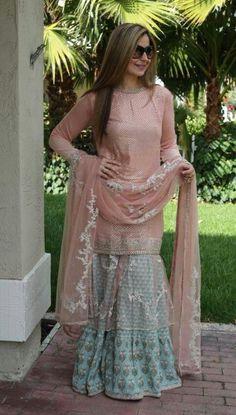 Wow Punjabi Fashion, Ethnic Fashion, Indian Fashion, Girl Fashion, Shadi Dresses, Pakistani Dresses, Indian Bridal Wear, Indian Wear, Stylish Dresses